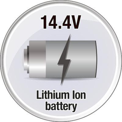 Lithium ion battery with up to 24 min running time