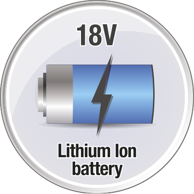 Lithium ion battery with up to 33 min running time