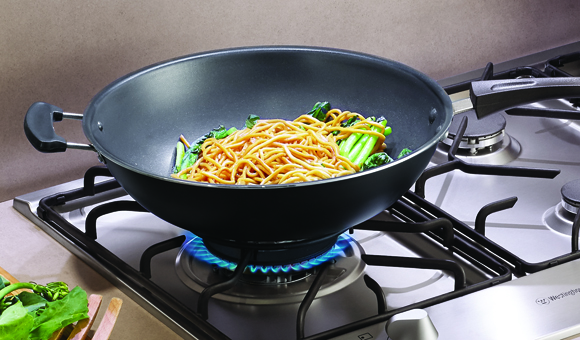 High-powered wok burner