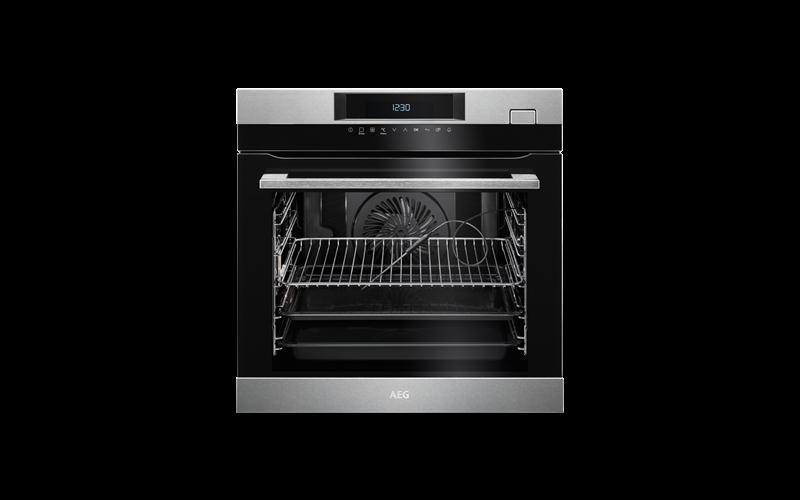 AEG 60cm SteamCrisp multi-function 19 oven, stainless steel BSK774320M