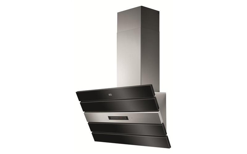 AEG Black & Stainless 90cm inclined canopy DVK6980HB