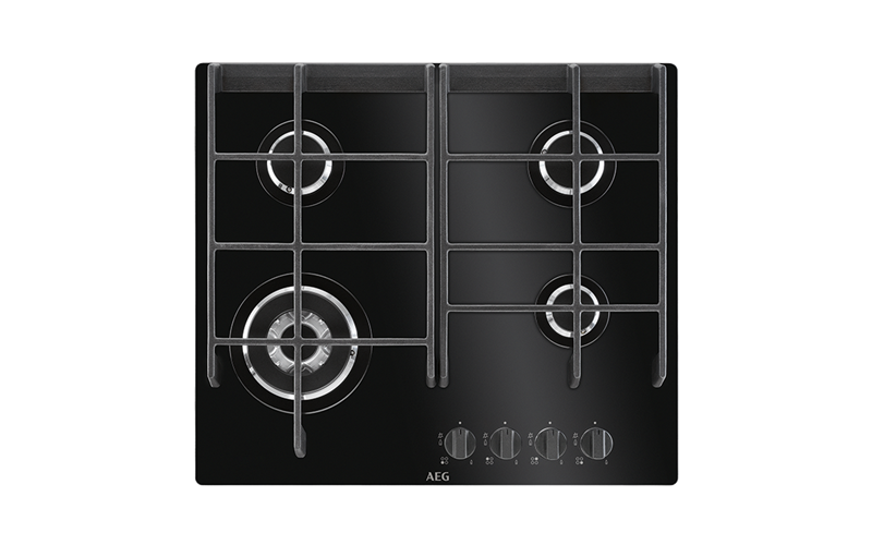 AEG 60cm 4 Burner Ceramic Glass Gas Cooktop HG674550VB