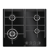 60cm 4 burner ceramic glass gas cooktop: HG674550VB
