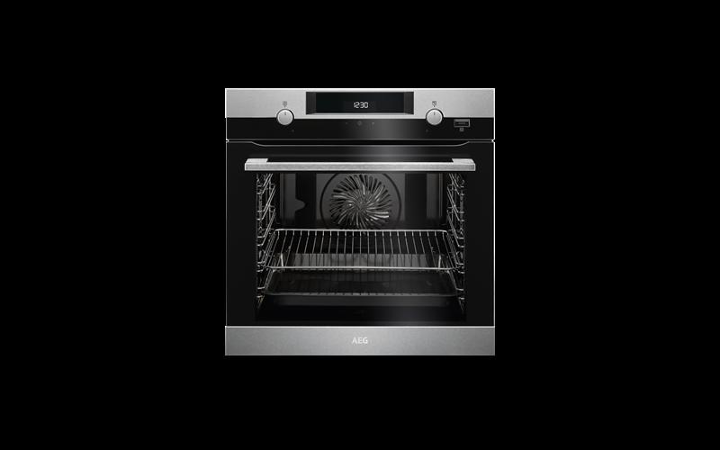 AEG 60cm SteamBake multi-function 9 oven, stainless steel BEK455310M