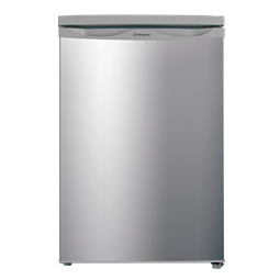 Silver finish 124L bar fridge