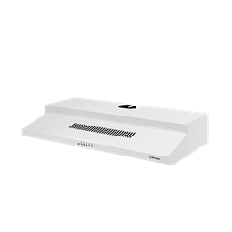 90cm fixed white rangehood.