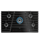 90cm TouchSure 5 burner gas on ceramic glass cooktop: HVB95450IB