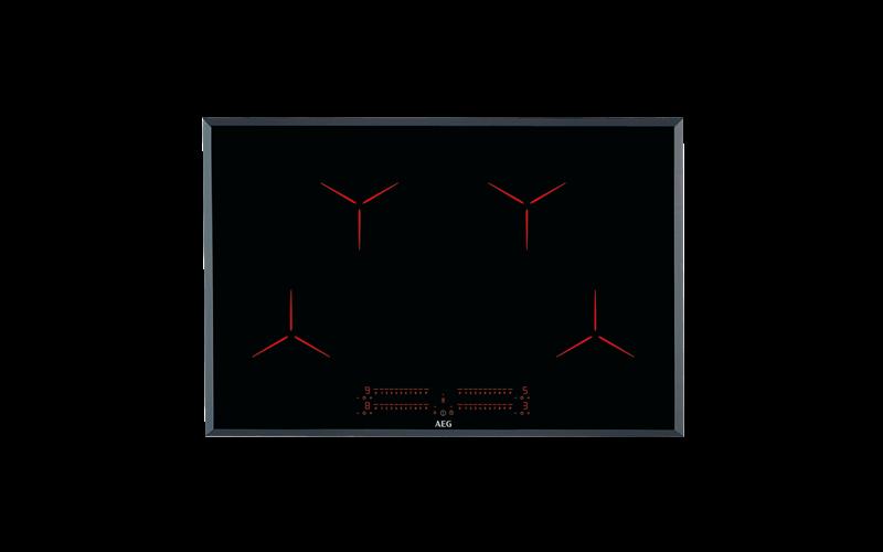 AEG 80cm 4 zone induction cooktop IPE84531FB