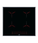 60cm 4 zone Pure black induction cooktop: IPE64551FB
