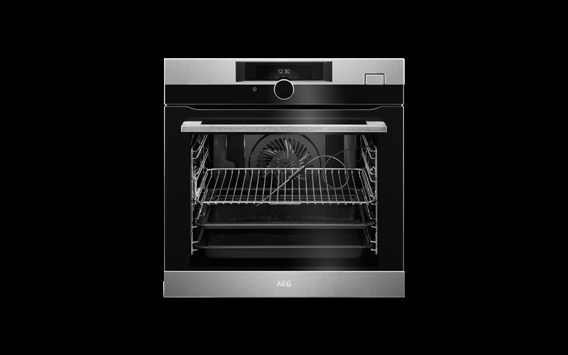 AEG 60cm SteamBoost multi-function 21 oven, stainless steel BSK882320M