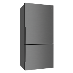 528L Dark Stainless bottom mount fridge