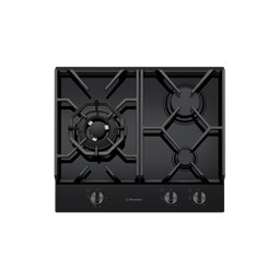 60cm 3 burner black tempered glass gas cooktop