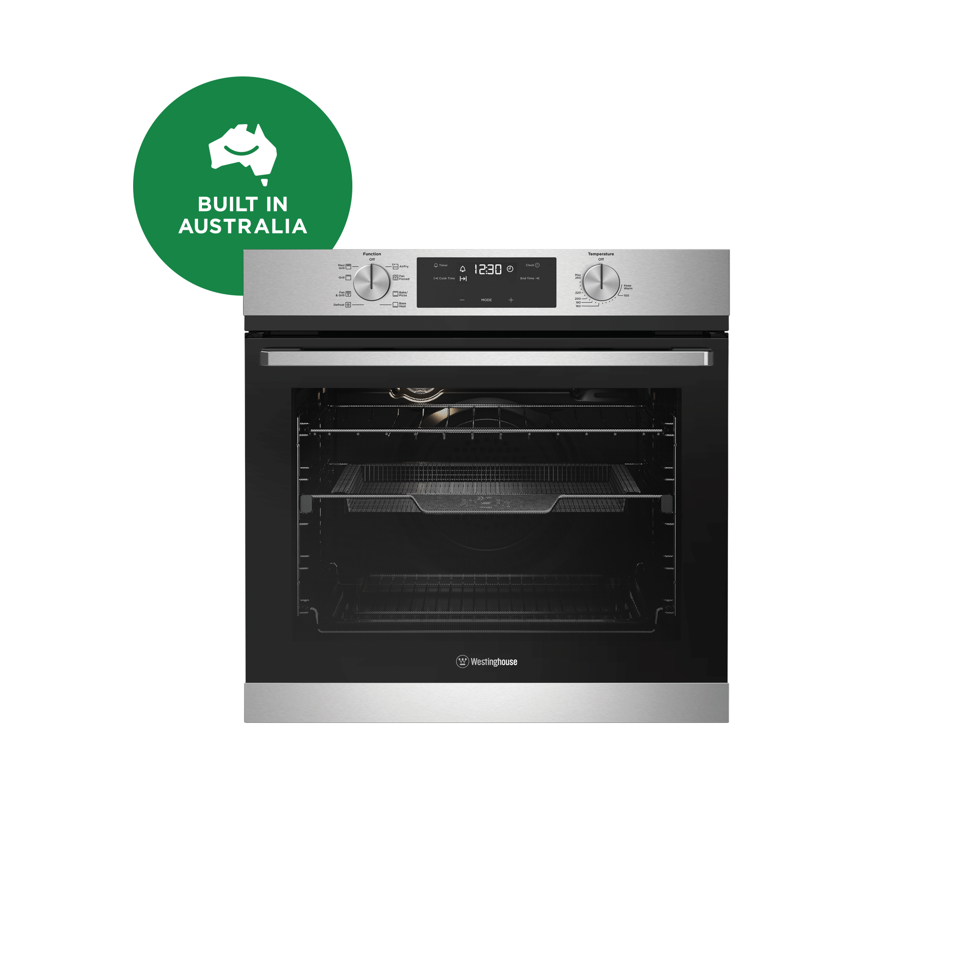 60cm Multi Function 8 Oven Airfry Stainless Steel Wve616sc Westinghouse Westinghouse Australia