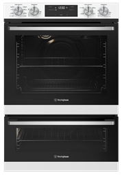 60cm multi-function 8/5 duo oven, white