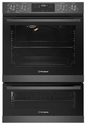 60cm multi-function 10/5 pyrolytic duo oven, dark stainless steel