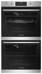 60cm multi-function 8/8 double oven with AirFry, stainless steel
