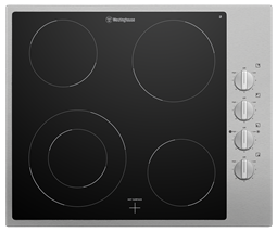 60cm 4 zone ceramic cooktop, stainless steel trim