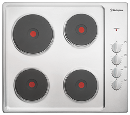 60cm electric solid cooktop, stainless steel
