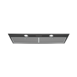86cm integrated rangehood, dark stainless steel