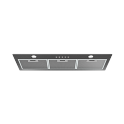80cm integrated rangehood, dark stainless steel