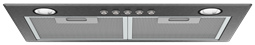 50cm integrated rangehood, dark stainless steel