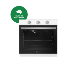 60cm multi-function 5 gas oven, white