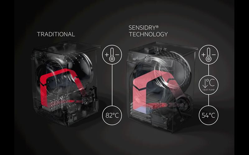 AEG 8kg 9000 series SensiDry heat pump dryer T9DHA866C