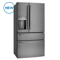 681L French Door fridge, dark stainless steel