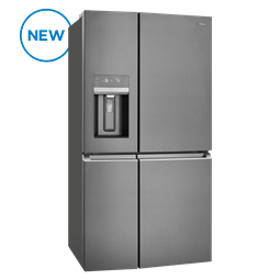 680L French Door Fridge, dark stainless steel