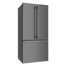 524L French door fridge, dark stainless steel