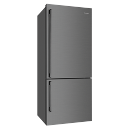 453L Dark Stainless bottom mount fridge