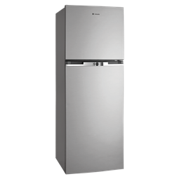 340L Silver top mount fridge