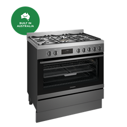 90cm dual fuel freestanding cooker with AirFry, dark stainless steel