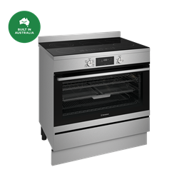 90cm electric freestanding cooker with AirFry, stainless steel