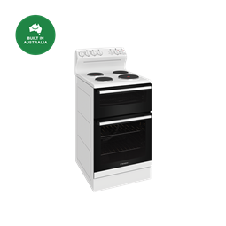 54cm electric freestanding cooker with separate grill, white