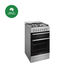 54cm dual fuel freestanding cooker with separate grill, stainless steel