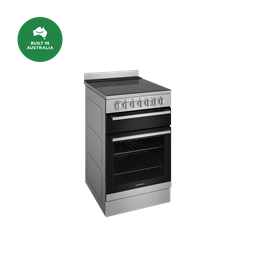 54cm electric freestanding cooker with separate grill, stainless steel