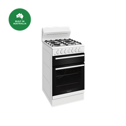 54cm gas freestanding cooker with separate grill, white