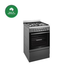 60cm dual fuel freestanding cooker with AirFry, dark stainless steel