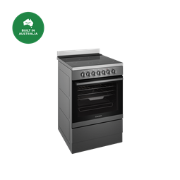 60cm electric freestanding cooker with AirFry, dark stainless steel