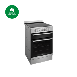 60cm electric freestanding cooker with separate grill, stainless steel