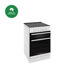 60cm electric freestanding cooker with separate grill, white