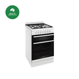 60cm gas freestanding cooker with separate grill, white
