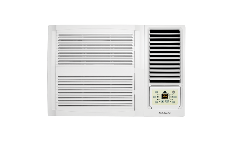 window wall reverse cycle air conditioner 2 7kw (kwh26hre) - kelvinator  australia