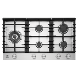 90cm 5 Burner Gas Cooktop With Front Controls