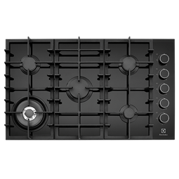 90cm 5 Burner Glass Gas Cooktop With Side Controls