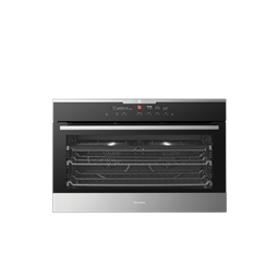 Black Multifunction Oven With Intuitive Oven Interface Control System
