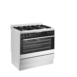 Black Dual Fuel Freestanding Cooker With Gas Hob And Multifunction Oven