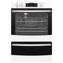 White fan forced oven separate grill