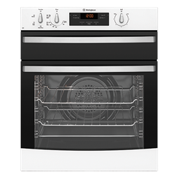 White multifunction oven separate grill